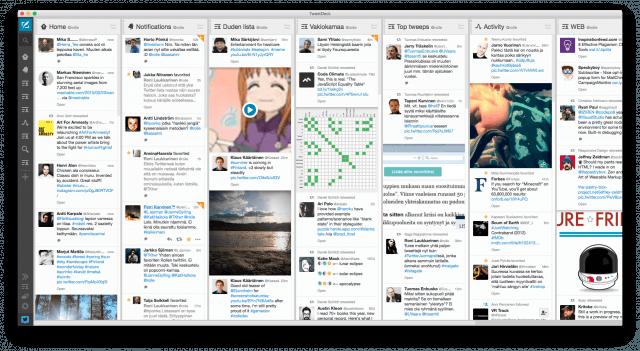 Kuavankaappaus TweetDeckistäni.