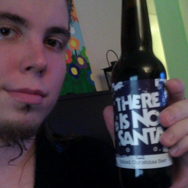 "Brewdogin kanelinen jouluolut vuodelta 2011, ""There is no Santa""."