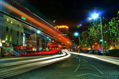 Bristol City Centre at Night (HDR)
