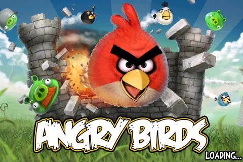 Kuvankaappaus iPod Touchin Angry Birds-pelistä