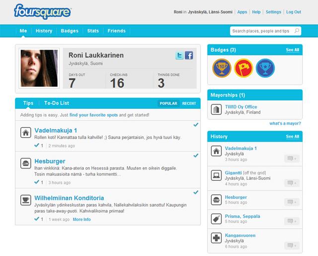 Kuvankaappaus Foursquaresta