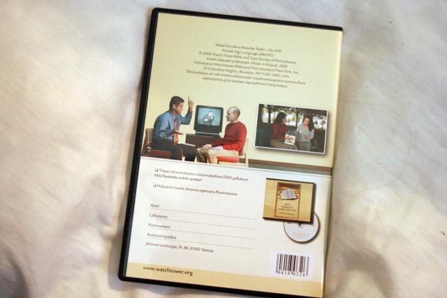 Kuva Jehovan todistajien dvd:stä viittomakielisille