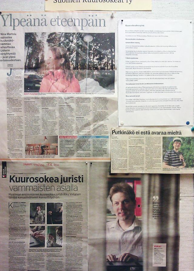 Suomen Kuurosokeiden ry:n ilmoitustaulu