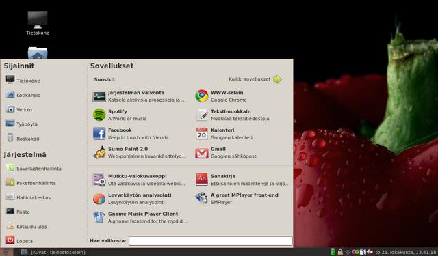 Linux Mint bleu-miniläppärissä
