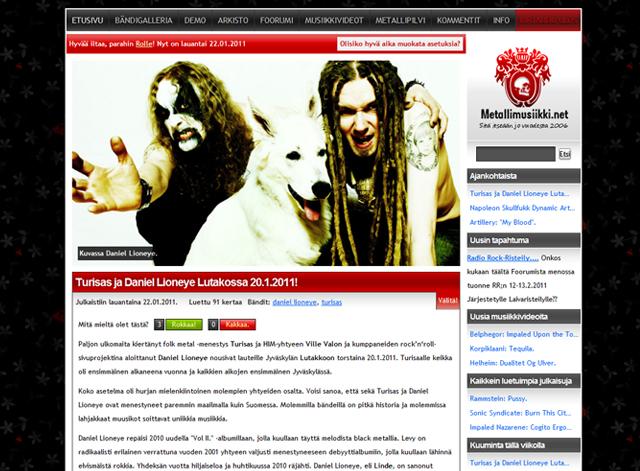 Daniel Lioneye ja Turisas metallimusiikki.netissä