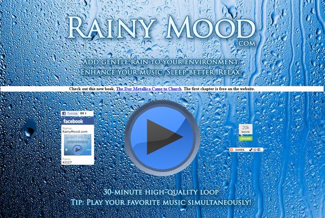Kuvankaappaus Rainymood.com-verkkosivustosta