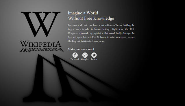 Wikipedia black out