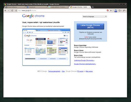 Kuva Google Chrome -selaimesta