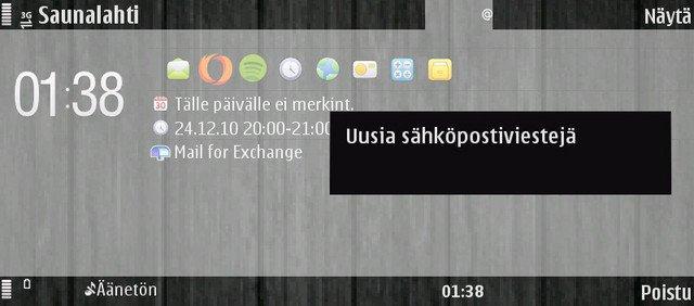 Sähköposti E90:ssä