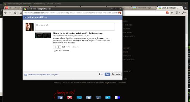Kuva Facebookin ongelmasta