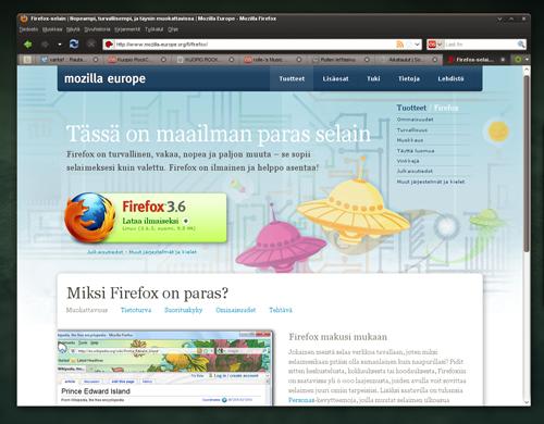Kuva Mozilla Firefox -selaimesta