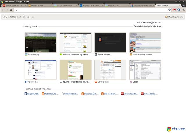 Kuvankaappaus Google Chrome -selaimesta