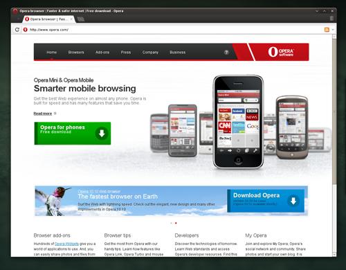 Kuva Opera -selaimesta