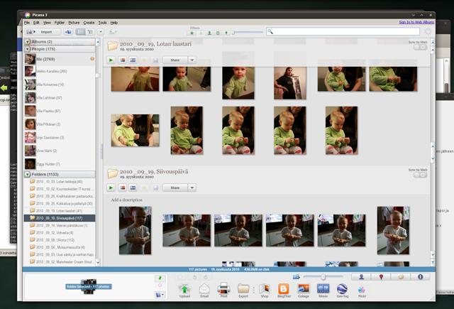 Kuva Picasa-kuvanlajitteluohjelmasta
