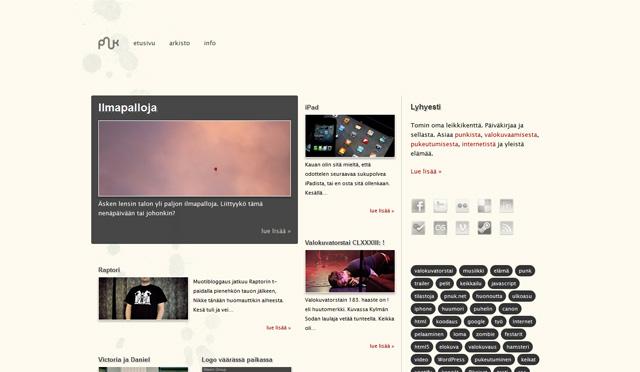 Kuvankaappaus blogista