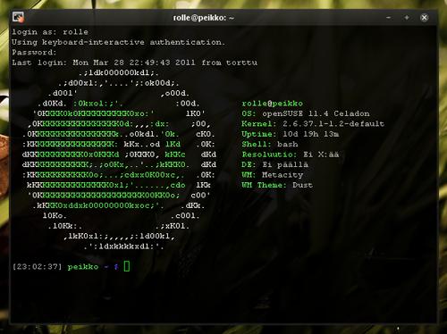 ScreenFetch openSUSEsta