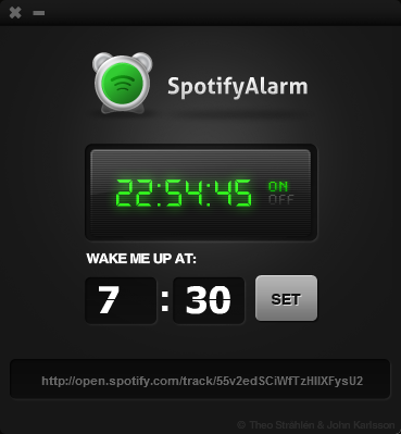 Spotify Alarm AIR-sovellus
