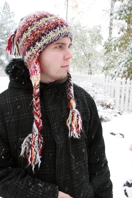 Kuva minusta talvivaatteissa