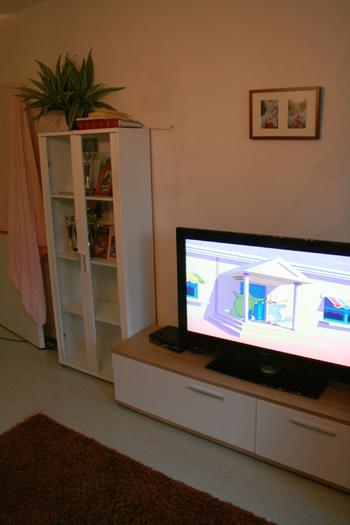Olohuoneen TV ja taso